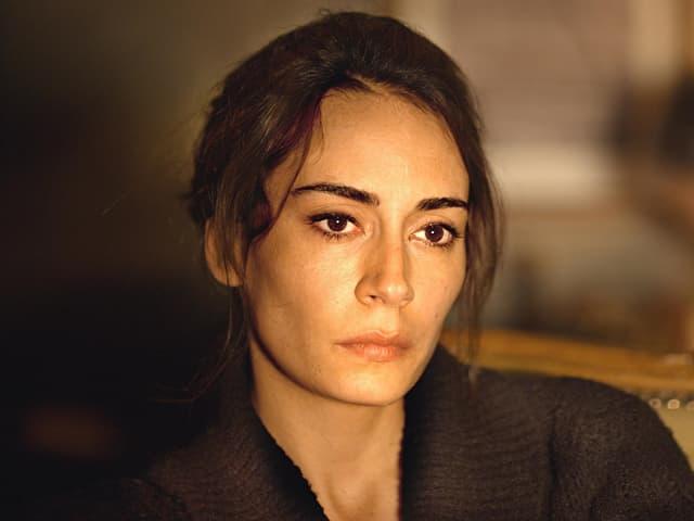 Schauspielerin Melisa Sözen, die in «Winter Sleep» Aydins Frau Nihal spielt, in einer Nahaufnahme.
