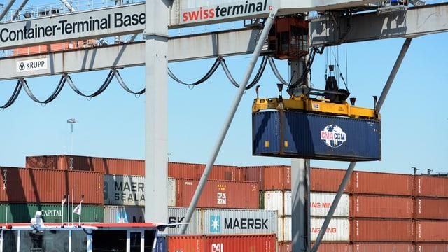 Hafen Basel, Containerumschlag