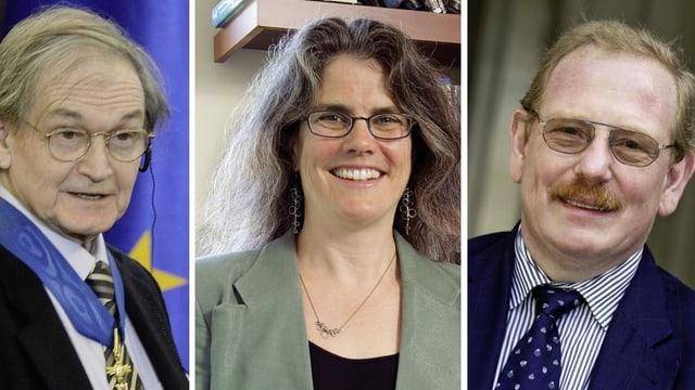 Roger Penrose, Andrea Ghez e Reinhard Genzel.