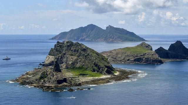 Die unbewohnten Inseln im Ostchinesischen Meer.