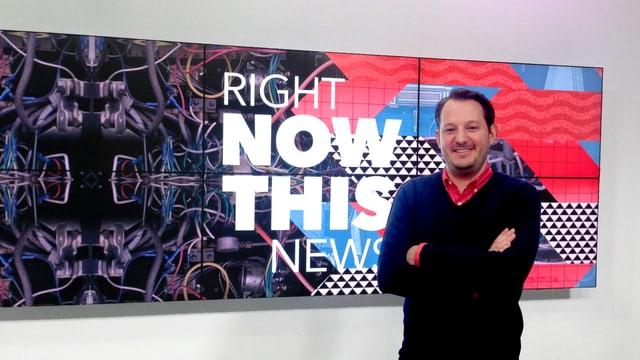 Ed O'Keefe im Studio von NowThis News.