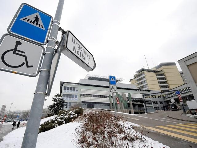 Bild des Freiburger Kantonsspitals.