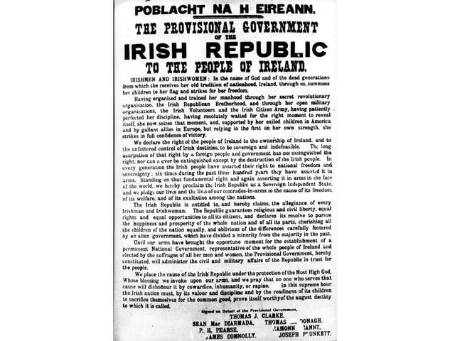 Abdruck der Osterproklamation von 1916