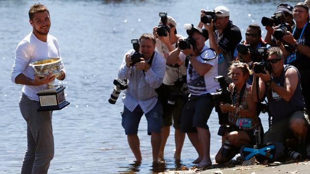 Der frischgebackene Australian-Open-Sieger Stanislas Wawrinka.