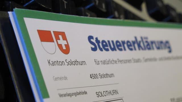 Steuererklärung Kt. Solothurn