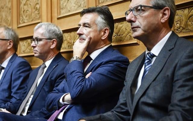 Von links: Der Obwaldner Erich Ettlin (CVP), der Nidwaldner Hans Wicki (FDP) und der Urner Josef Dittli (FDP).