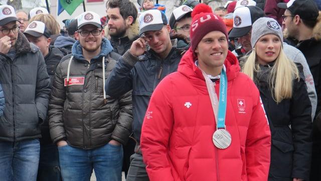 Marc Bischofberger mit Medaille