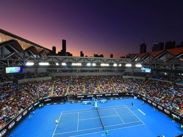 Die zweitgrösste Arena der Australian Open bei einer Night Session.