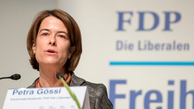 Petra Gössi, cussegliera naziunala da la PLD.