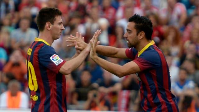Lionel Messi musste nach seinem 1:0 gegen Almeria verletzungsbedingt durch Xavi Hernandez ersetzt werden.