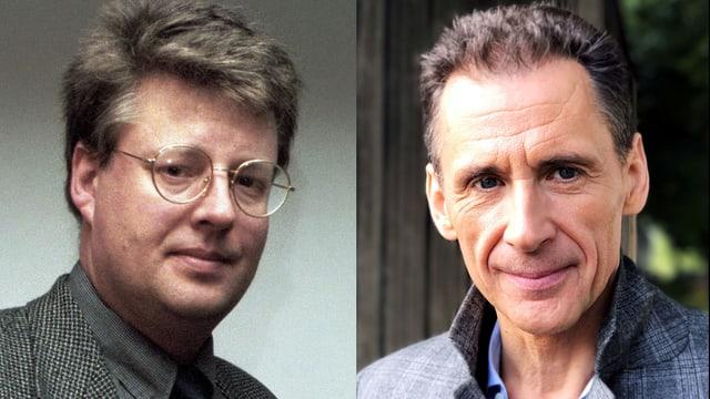 Zwei Porträt-Bilder zusammengeschnitten: links ein Mann mit Brille und kurzen Haaren, rechts ein etwas älterer Mann mit kurzen Haaren.