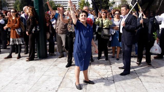 Staatsangestellte demonstiererten 2011