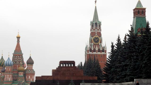 Kirchturmuhr im Kreml.