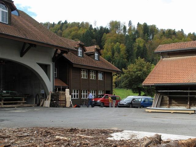Aussenaufnahme der Asylunterkunft beim Kloster Einsiedeln.