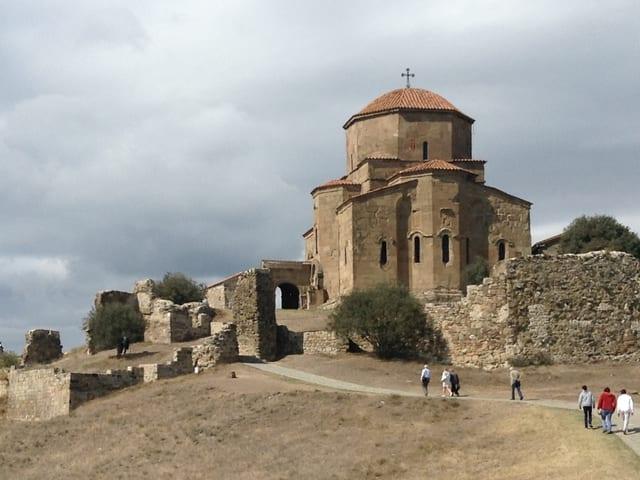 Georgisch-orthodoxe Klosterkirche Dschwari bei Mzcheta, 6. Jhdt. n Chr., UNESCO-Kulturerbe.