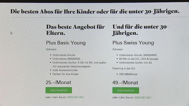 Das Angebot auf der Webseite von Salt - 25 Franken Angebot