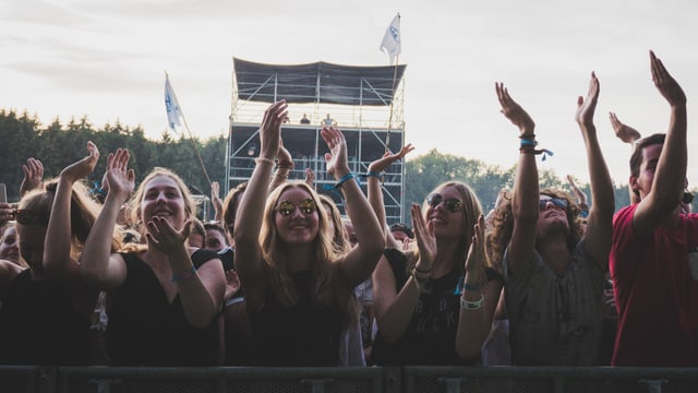 Publikum an Konzert