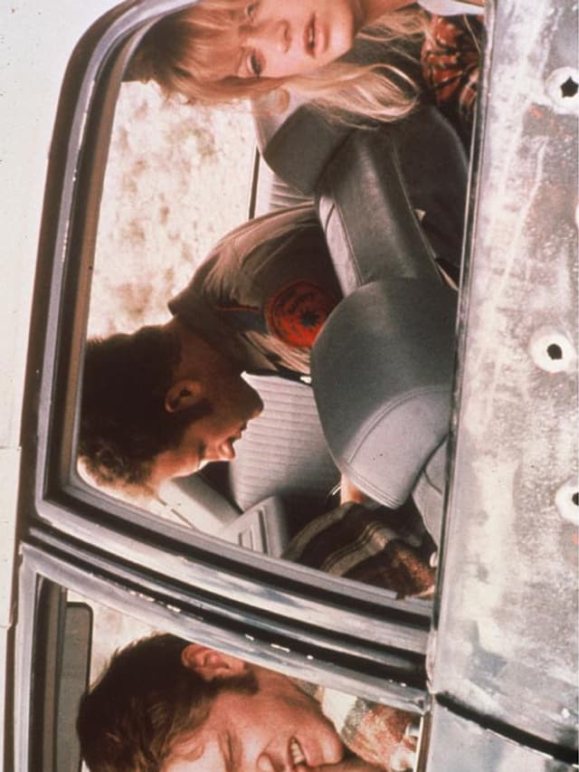 Kidnapper im Fluchtwagen.