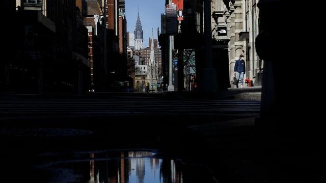 Leere Strasse in New York