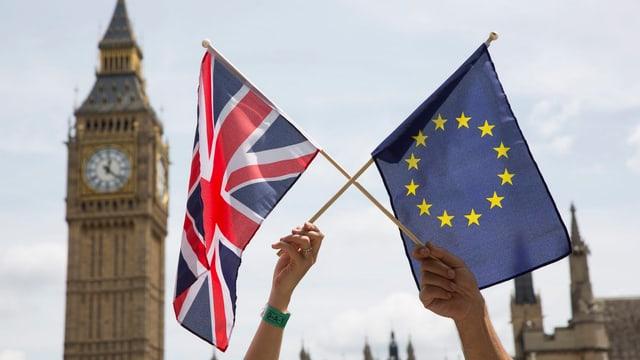 EU-Fahne, GB-Fahne