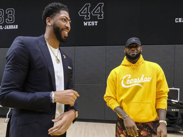 Anthony Davis und LeBron James.