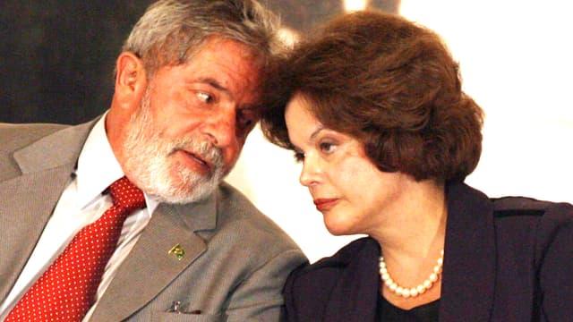 Lula und Rousseff im Gespräch.