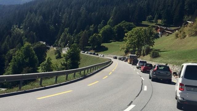 Traffic curt avant Churwalden.