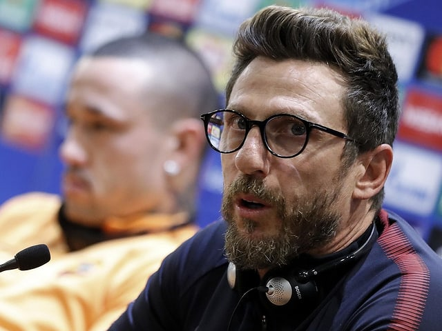 Roms Coach Eusebio Di Francesco.