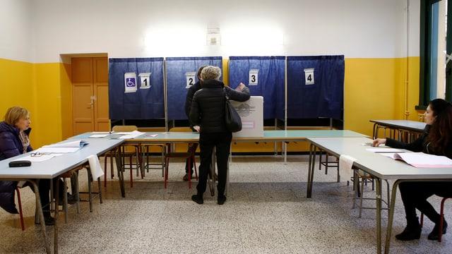 Abstimmungsraum in Italien
