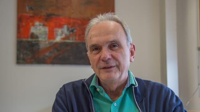 Il maletg mussa Aurelio Casanova, deputà da la PCD e president communal da Glion