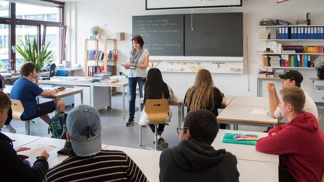 Klassenzimmer einer Sekundarschule