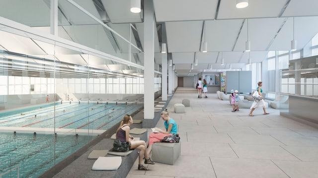 Visualisierung Schwimmbad