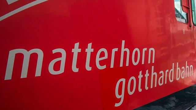 Tren Matterhorn-Gotthard.