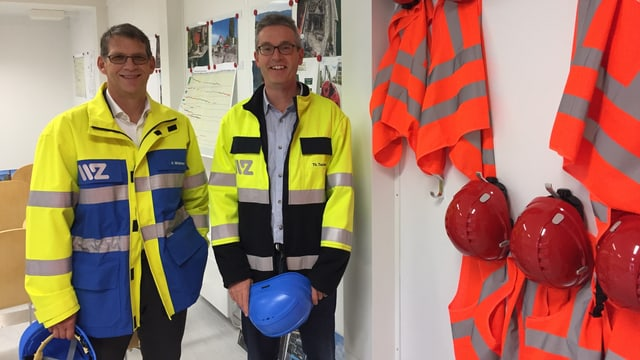WWZ-Chef Andreas Widmer und Projektleiter von Circulago Thomas Tschan