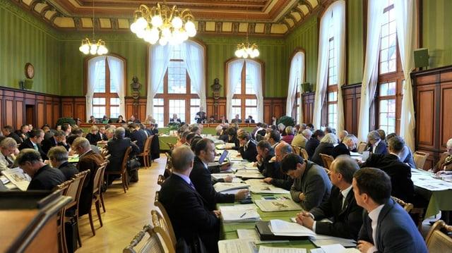 Der Thurgauer Rat hält eine Sitzung ab.