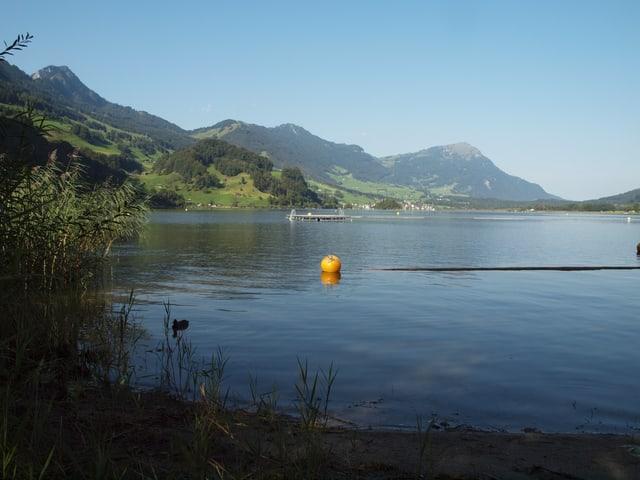 Totale auf einen See mit Bergen.