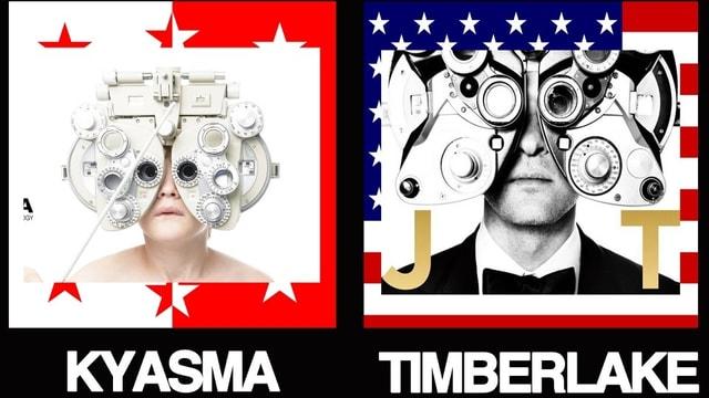 Mx3 Music deckte auf: Das Albumcover von Justin Timberlake wird fast genau gleich aussehen wie dasjenige von Kyasma.
