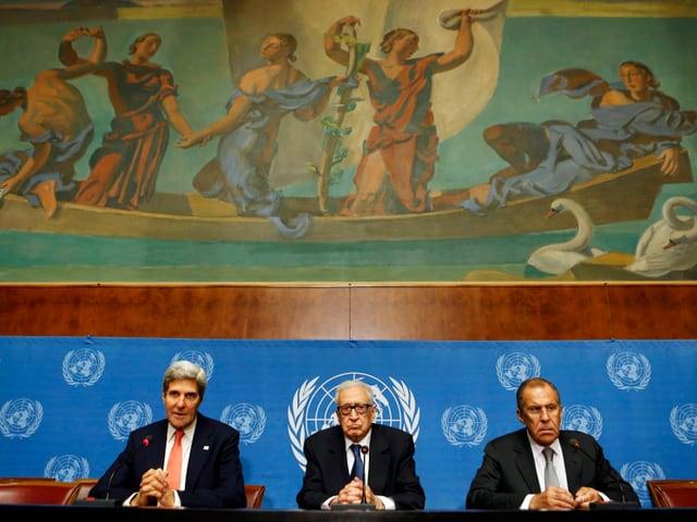 Kerry und Lawrow 2013 in Genf