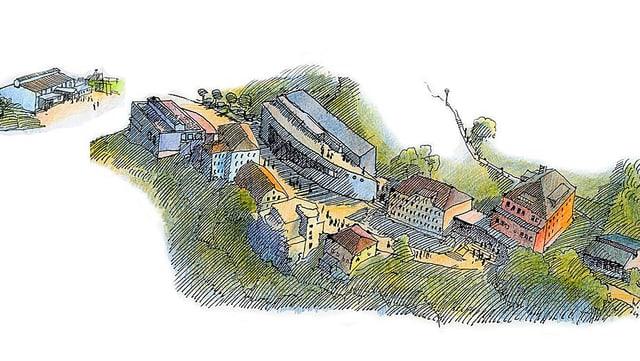 Skizze des Areals der Kantonsschule Trogen