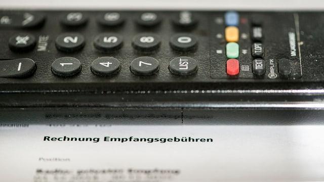 Telecumond da televisiun sin in quint da taxas per radio e televisiun.