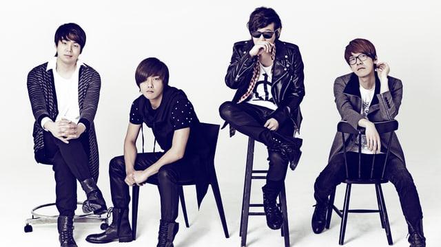 Die koreanische Band «Nell» gibt hat Weltformat und sieht dementsprechend hochgestylt aus.