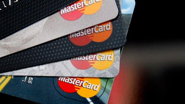 Cartas da credit Mastercard.