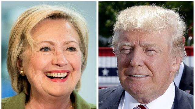 Cun in bel surrir emprovan Hillary Clinton e Donald Trump anc ina giada da persvader ils electurs.