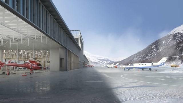 Visualisierung neuer Flughafen