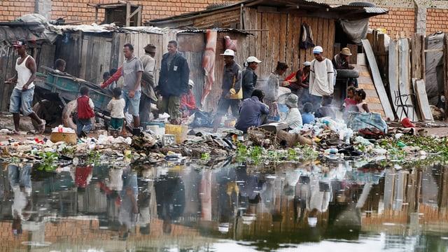Eine Alltagsszene auf Madagaskar.