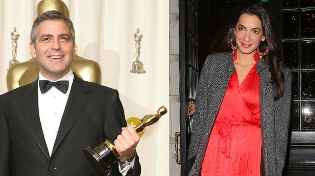 Das neuverlobte Paar: George Clooney und Amal Alamuddin