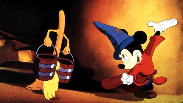 Filmstil aus Disney's Fantasia.