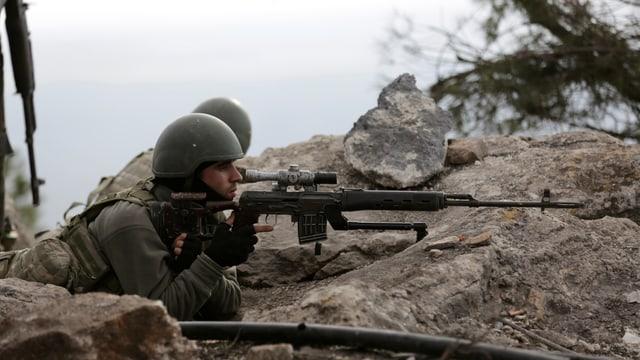 Tuerkische Streitkräfte in der Region Afrin.