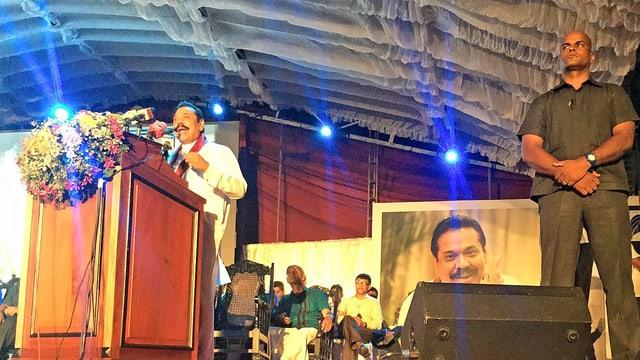 Wahlkampfveranstaltung Rajapaksa