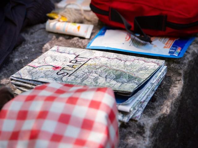 Die Wanderkarte von SRF 1-Outdoor-Reporter Marcel Hähni für den Walserweg Graubünden.